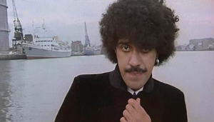 Phil Lynott, seen here in the iconic video for his solo classic Old Town
