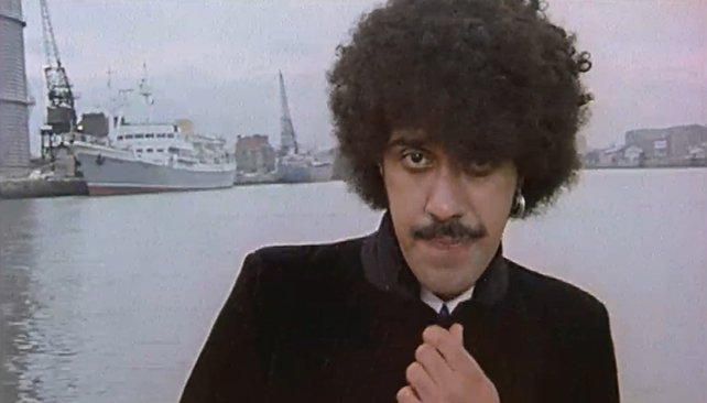 Phil Lynott on the River Liffey (1982)