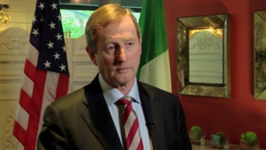 Enda Kenny was speaking from Washington DC as part of a two-day trip to commemorate the 1916 Rising