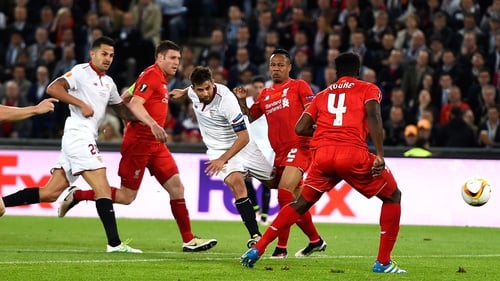 Coke drilled home a brilliant second goal for Sevilla
