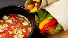 A great family lunch with fajitas