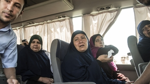 Relatives of those on board the EgyptAir plane are transported to a gathering point at Cairo airport