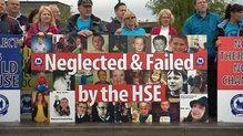 The parents protested outside HSE offices in the town