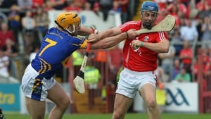 Paudie Maher and Conor O'Sullivan (right) tussle for possession during a previous Munster SHC encounter