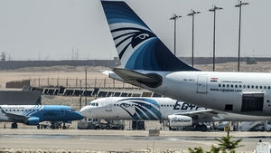 EgyptAir planes are seen on the tarmac at Cairo airport after an EgyptAir flight from Paris to Cairo vanished from radar