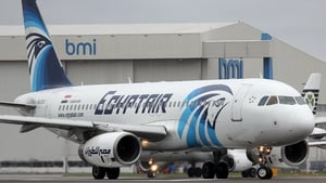 An image made available today shows an EgyptAir Airbus A320 with SU-GCC registration at Heathrow Airport in 2012