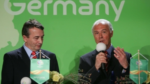 Wolfgang Niersbach with President of 2006 FIFA World Cup Organisation committee Franz Beckenbauer