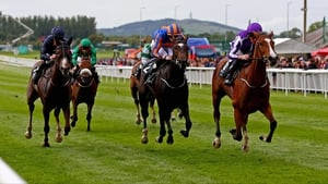 Minding (R) winning the Moyglare Stud Stakes at the Curragh last year