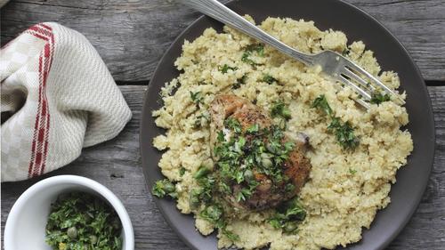 A tasty and healthy cauliflower mash