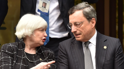 US Fed chief Janet Yellen and ECB boss Mario Draghi