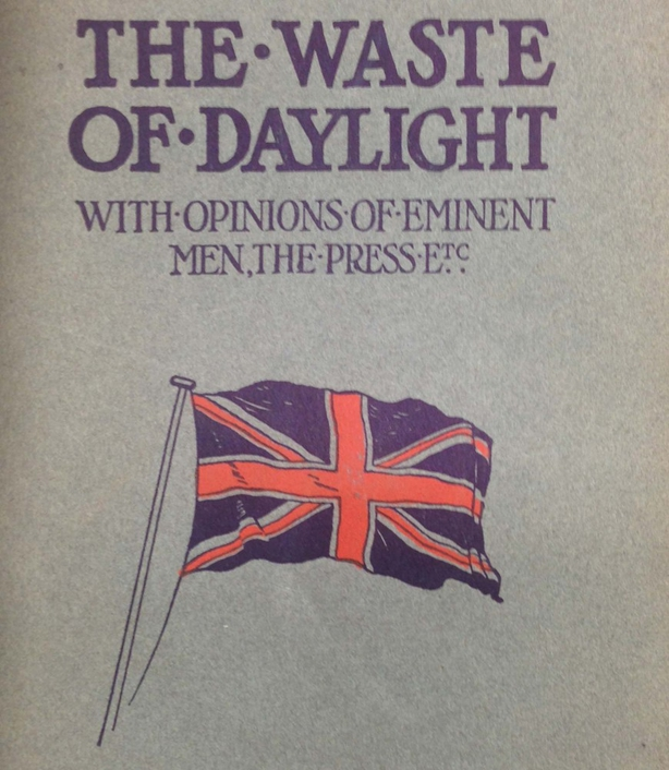 The cover of the 1914 edition of Willett's pamphet The Waste of Daylight