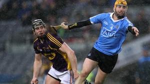 Leinster GAA Senior Hurling  Dublin's Oisin Gough and Andrew Kenny of Wexford battle in the rain of Croke Park