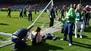 Hibs vow to punish unruly pitch invaders