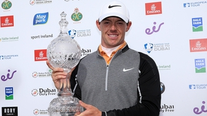 Rory McIlroy with the Irish Open trophy after securing his three-shot victory at The K Club