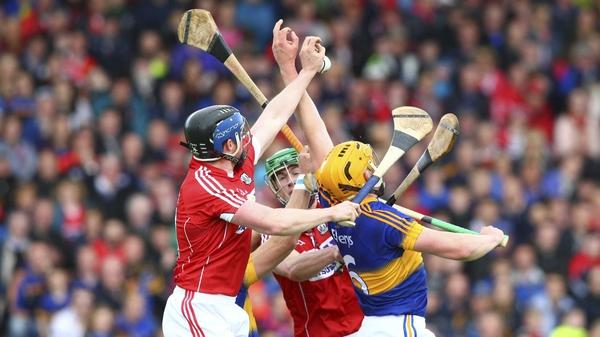 Cork's Conor Lehane gathers the ball ahead of Tipperary's Ronan Maher