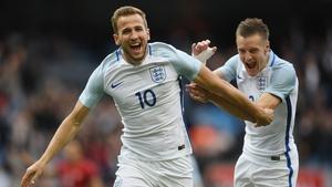 The England strike force scored 49 league goals last season