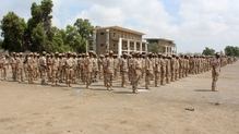 The attack occurred as the recruits lined up to enlist for military service (File picture)