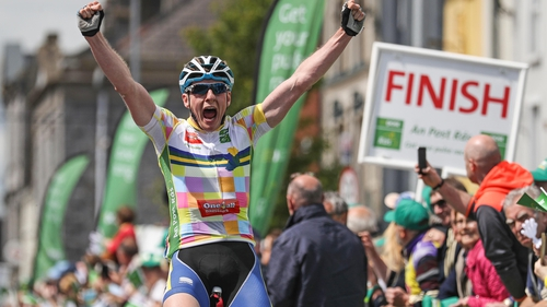 Eoin Morton reacts to winning stage 2 of An Post Rás 5fc2f5e9c