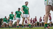 Reynolds parades with his Leitrim team before a Championship game