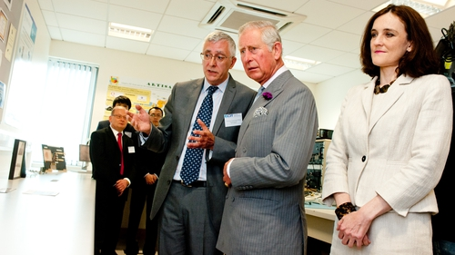 Prince Charles of Wales during his visit to the Northern Ireland Science Park at Queen's University Belfast