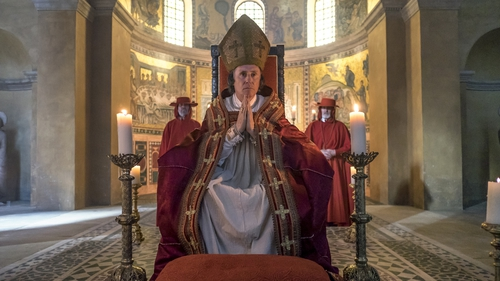 Gabriel Byrne as Pope Gregory X in Marco Polo