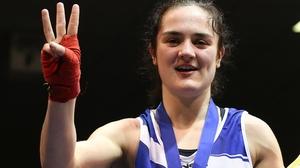 Kellie Harrington was convincing in victory over Zarina Tsoloyeva