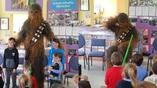 Féach! Tá Wookiee sa scoil! Chewbacca delights Kerry kids