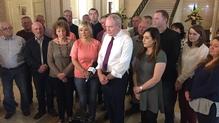 Sinn Féin's four-member team was announced today