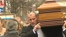 Gareth Hutch helps carry the coffin at the funeral of Eddie Hutch