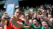 Seamus Coleman in selfie mode at the Aviva