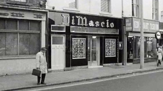 Di Mascio's Chipper on Marlborough Street, Dublin (1972)