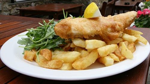 Kevin Dundon's fish and chips.