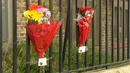 Flowers are left outside Avondale House on North Cumberland Street