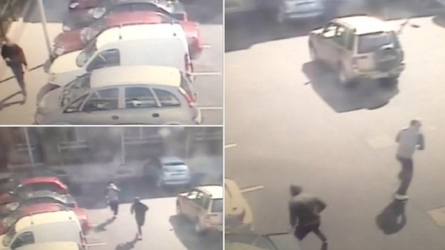 CCTV footage shows Gareth Hutch approaching his car before the gunmen strike and flee