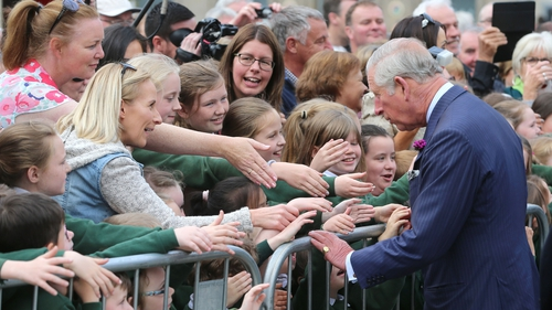 Prince Charles meets with locals in Donegal town