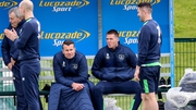 James McCarthy (R) sits out today's training session but O'Neill has no fears over his thigh injury