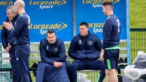 James McCarthy (R) sits out today's training session but Martin O'Neill has no fears over his thigh injury