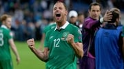 David Meyler celebrates the qualifying victory over Germany