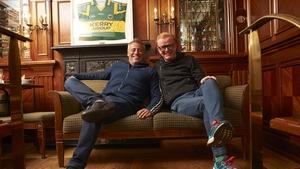 LeBlanc and Evans on location in Killarney last month