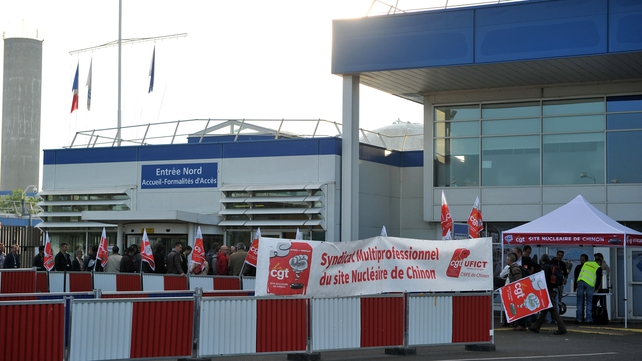 Workers at the Chinon nuclear plant have joined the strike