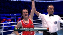 An elated Kellie Harrington talks to RTÉ Sport after winning her World Championship semi-final