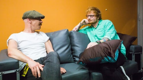 Foy Vance backstage with Ed Sheeran