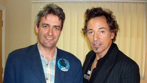 Warm, funny, generous and The Boss. David McCullagh with Springsteen