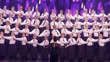 The choir and choir mistress Veronica McCarronhad received a standing ovation from the judges and the audience