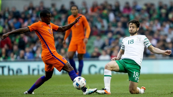 Harry Arter vies for possession