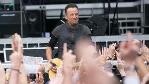 Bruce Springsteen rocking out in Croke Park last night