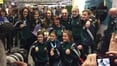Crowds welcome women's boxing team home
