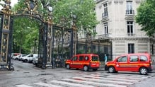 The accident in Paris happened at Parc Monceau as a thunder storm rumbled over the French capital