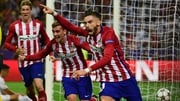 Yannick Ferreira Carrasco celebrates his equaliser against Real Madrid