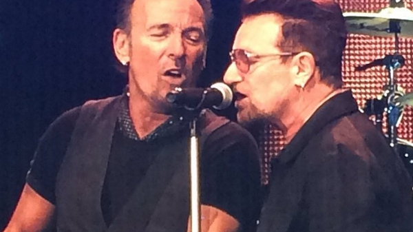 The Boss and Bono at Croke Park - Sang a duet on Because the Night